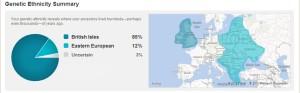 Image: Genetic Ethnicity Summary