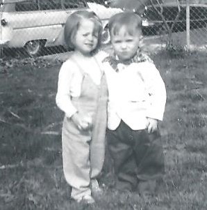 Toddlers: Bonnie Jean Stambaugh and Frank Roy Boling - April 17, 1960