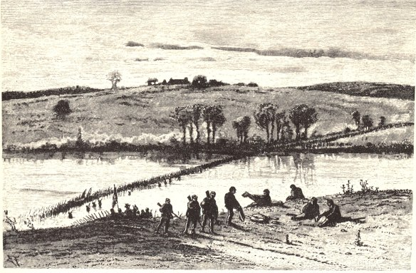 Rapidan River Crossing at Elys Ford Road,  April 30, 1863