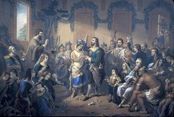 1614 Marriage of Princess Pocahontas and Captain John Rolfe