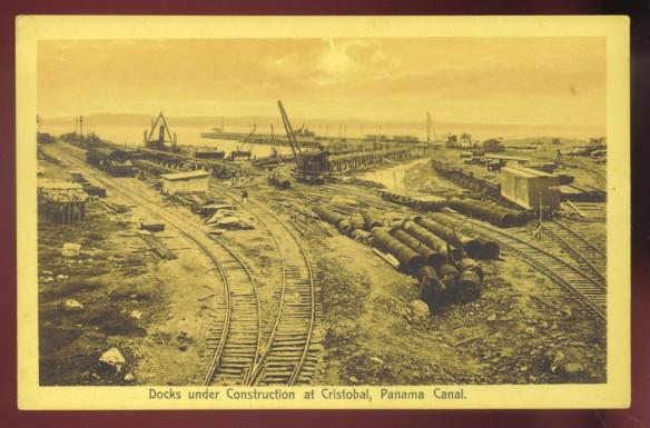 Panama Canal Under Construction, Cristábol, Cólón 1910