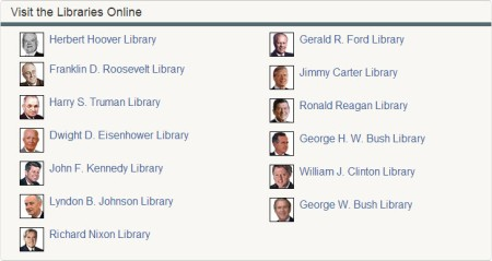 National Archives 13 Presidential Libraries with Online Collections