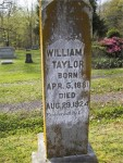 Wm F Taylor Jr. Headstone