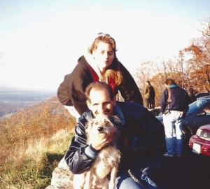 Jenny, Dad, and Beau in Washington County, MD