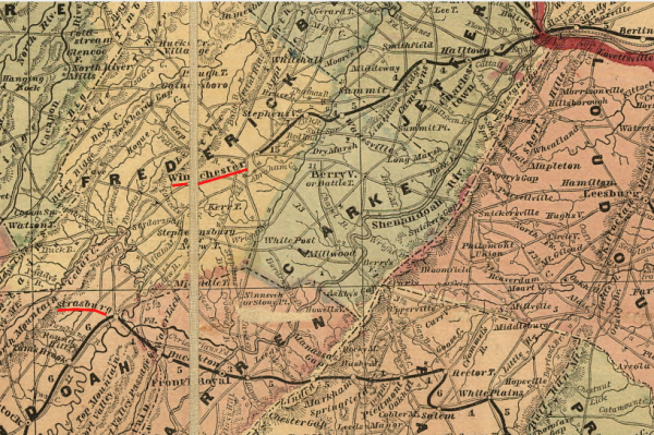 Source: Library of Congress, Lloyd's official map of the state of Virginia from actual surveys by order of the Executive 1828 & 1859