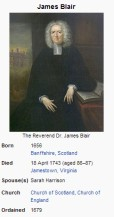 The Reverend Doctor James Blair