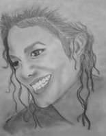 Jackie's Sketch of Michael Jackson