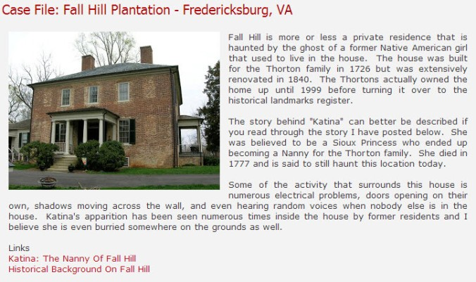 Case File-Fall Hill Plantation