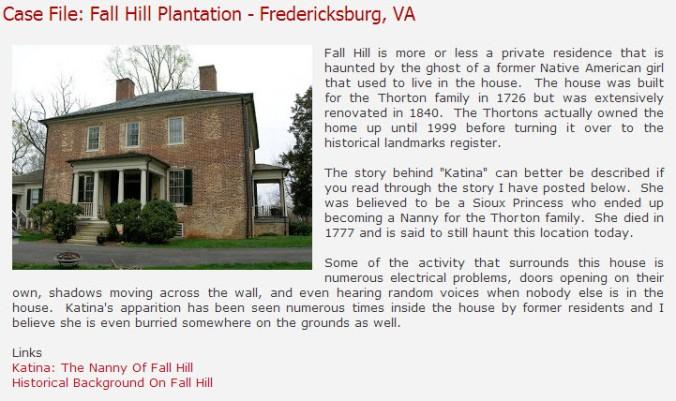 Case File-Fall Hill Plantation