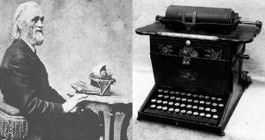 First typewriter