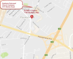 Freddies Liquors Forestville Map