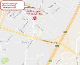 Freddies Liquors Forestville Map