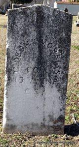 Gideon W Morris Headstone
