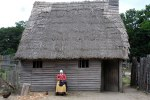 dirt floor thatched roof