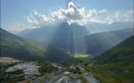 solar glare along Blue Ridge