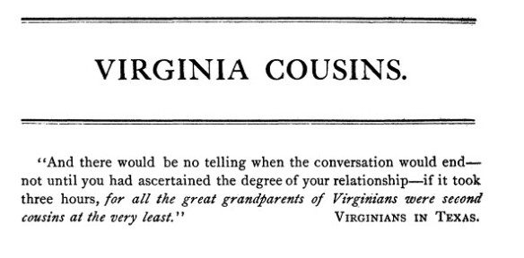 Virginia Cousins