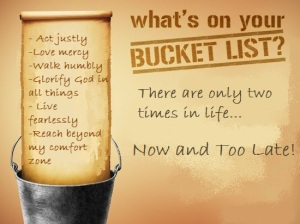 Have You Ever Made a Bucket List