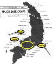 Major Base Camps 1969