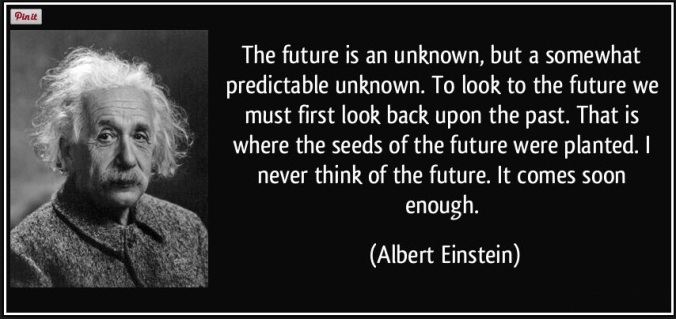 back to the future--einstein quote