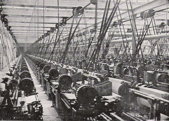A British textile mill in 1914 (E.L. Hoskin)