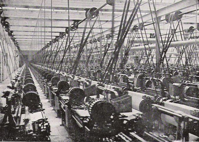A British textile mill in 1914 (E.L. Hoskin)