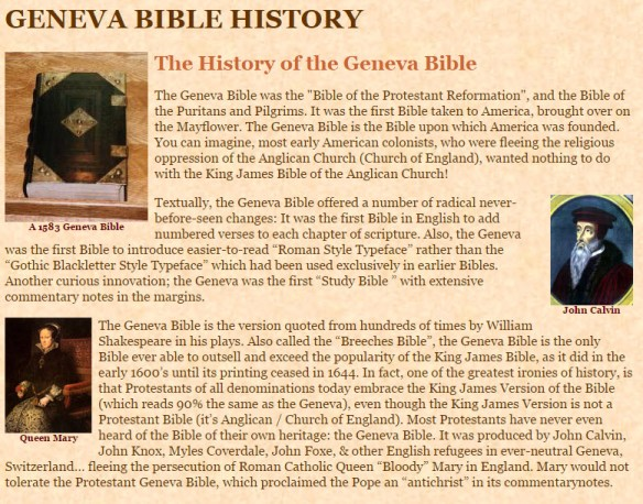 History of the Geneva Bible