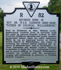 Williamsburg History Marker