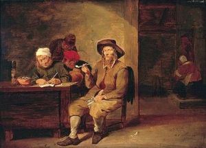 Smokers in an Inn (1650) by Mattheus van Helmont