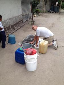 bob preparing filtering materials
