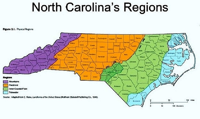NC Tidewater Region Counties