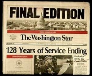 The Washington Star Final Edition