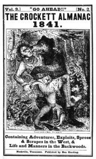 Cover--The Crockett Almanac 1841