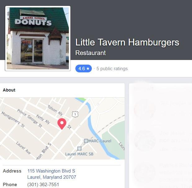 Little Tavern Laurel MD