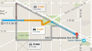Map-117 C St SE to 655 PA Ave SE