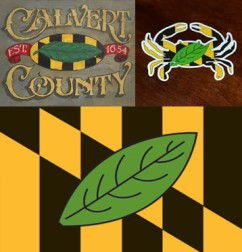Calvert County Flag Collage