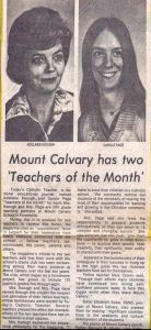 Teachers of the Month - Keough Page 1980