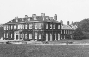 Heacham Hall before it burned down in 1941